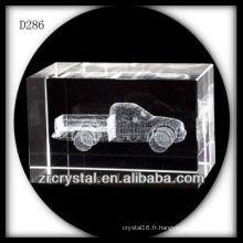 Camion souterrain de laser de K9 3D à l'intérieur du bloc en cristal