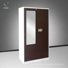 Personalizado cor dupla moderno quarto armazenamento guarda-roupa design de aço móveis China atacado