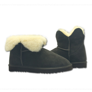 Winter Warm Genuine Leather Flat Snow Fur Boots