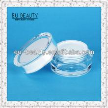 Round Acrylic Cream Jar Cosmetic Packaging Jars 30g