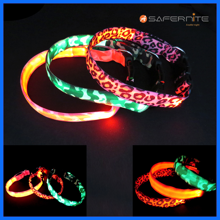 Usb Glow In Dark Dog Collari Fancy Led