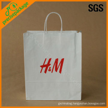Cheap White Paper Bags with Handles(PRP--414)