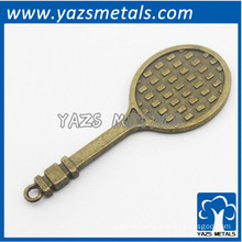 custom made metal retro decoration gadget tennis racket