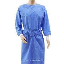 Vestido cirúrgico protetor descartável de SMS do isolamento
