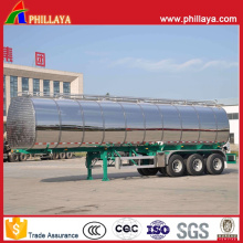 Remorque en aluminium de réservoir de semi-remorque de camion-citerne de route de mazout