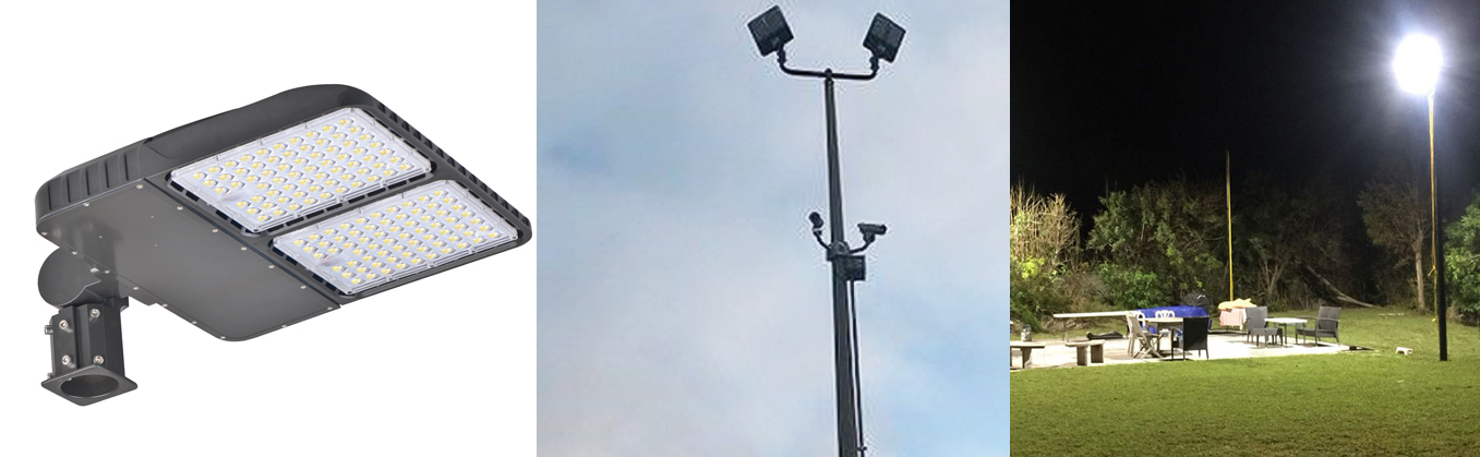 Led Street Light With Pole (4)