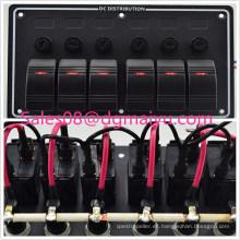 Panel de interruptor oscilante con control de puente marino para barcos, 6 pangas LED con fusible e indicador
