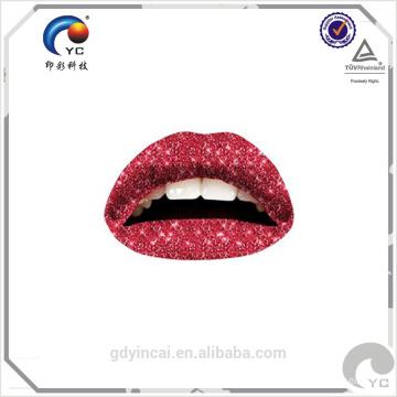 Etiqueta engomada temporal no tóxica modificada para requisitos particulares del tatuaje de la decoración atractiva del labio