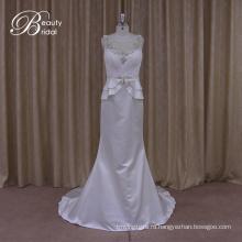 Романтический Sheer Обратно Образец Моды Идеальная Свадебные Платья