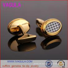 Camisa de hombre plateado oro de calidad VAGULA puños Gemelos gemelos (L51918)