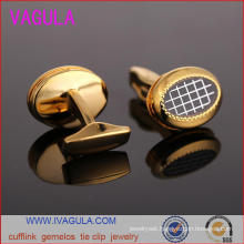 VAGULA Quality Gold Plated Men Shirt Cuffs Gemelos Cuff Links (L51918)