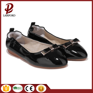 black flat shoes for women wholesale factory