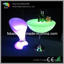 Tabouret de fauteuil en plastique pour fauteuil LED