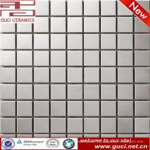 Carrelage mosaïque en acier inoxydable carré pour salon TV fond mur