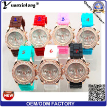 Yxl-191 Promotional Ladies Diamond Watch Silicone Casual Vogue Lady Dress Watches More Time Zone Wrist Watch