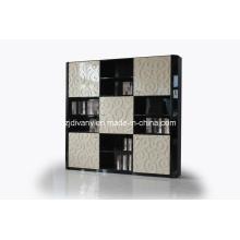 Pós-moderno alto brilhante leitura de madeira quarto grande estante