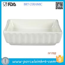 Bol à poissons en céramique blanche Accessoires pour animaux en gros Chine