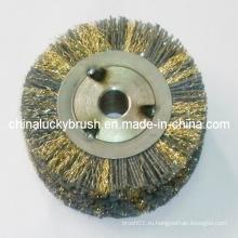 Нейлоновая абразивная и латунная проволочная смесь для колесных щеток (YY-354)