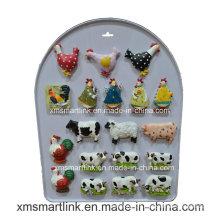 Souvenir Polyresin Chick and Cow Fridge Magnet Cadeaux