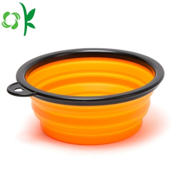 Opvouwbare Silicone Pet Food Water Bowl voor hond