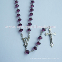 Kristall Perlen Material zu Rosenkränzen Halskette