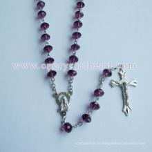 Хрустальные бусины материал, чтобы сделать чётки ожерелье