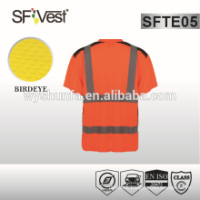 v-neck high visibility t-shirt 100% cotton reflective t-shirt safety workwear for man AS/ NZS 1906