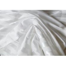 Tecido de cetim poli design listrado com brilhante para vestuário