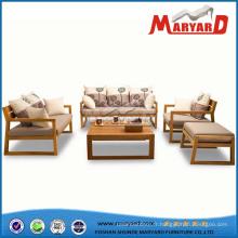 Canapé en bois en bois Canapé en bois Set Designs