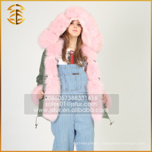 Nouveau style Custom Cheap Faux Hooded Fox Fur Parka