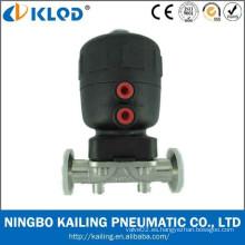 Válvula de control manual de diafragma, aire fluido, agua, gas