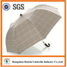 Professional OEM Fabrik liefern wetterfest uv Schutz Mode 2 Falte Regenschirm mit krummen behandeln