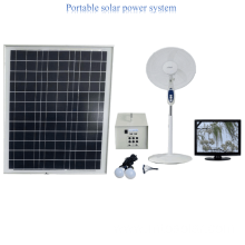 50w Portable solar fan & lighting system