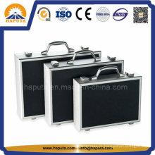 3-em-1 alumínio Lockable ferramenta Case com divisores de EVA dentro