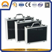 3-в-1 алюминиевые запираемые чемодан с рассекателями Ева внутри