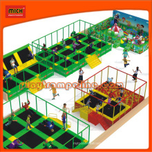 Mich Rectangular Indoor Trampoline with Foam Pit