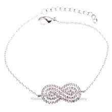 Sterling Silver Jewelry, Brass Jewellery Chain Bracelet (KT3168)