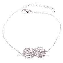 Jóias de prata esterlina, pulseira de corrente de jóias de latão (kt3168)