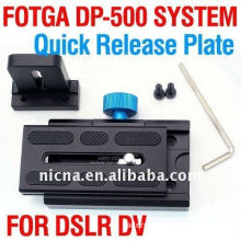 Fotga Dp500 System Quick Release Plate For Dslr 15mm Rail Rod Support