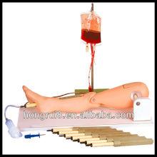 Punción de médula ósea ISO y simulador de pierna de venopunción femoral, modelo de pierna de lactancia