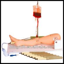 ISO Bone Marrow Puncture и Femoral Венипунктурный тренажер для ног, модель ноги для кормления