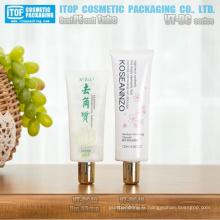 diamètre 40mm couleur comprimables souples personnalisable bouchon à vis ovale pe tube en plastique cosmétique emballage