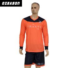 Chemise de football sublimée en gros faite sur commande de haute qualité / maillot de football / uniforme de gardien de but