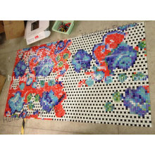 Flower Pattern Glass Mosaic Pattern Wall Tile (HMP812)