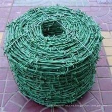 Alambre de púas recubierto de PVC y galvanizado en caliente sumergido en caliente / Alambre de púas barato
