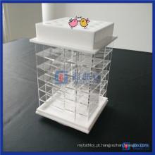 Fornecedor de China Novos produtos em destaque Suporte de batom acrílico Spinning