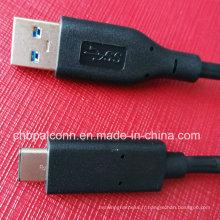 Câble USB3.0 vers Type C pour Smartphone de type C