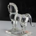 figurine de cheval en verre de cristal l'animal en cristal de zodiaque chinois