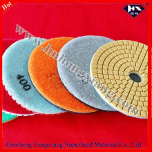 Verschiedene Grit 100mm Wet Flexible Diamond Floor Polishing Pad