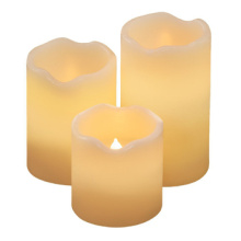Mini resin LED candle set with remote